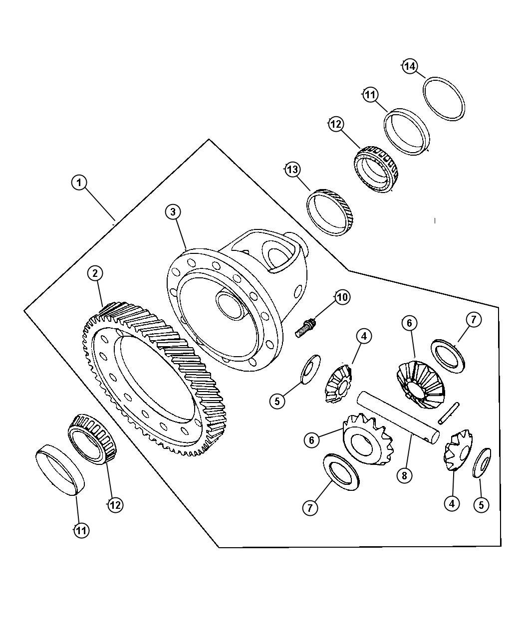 Dodge Neon Gear Differential Ring