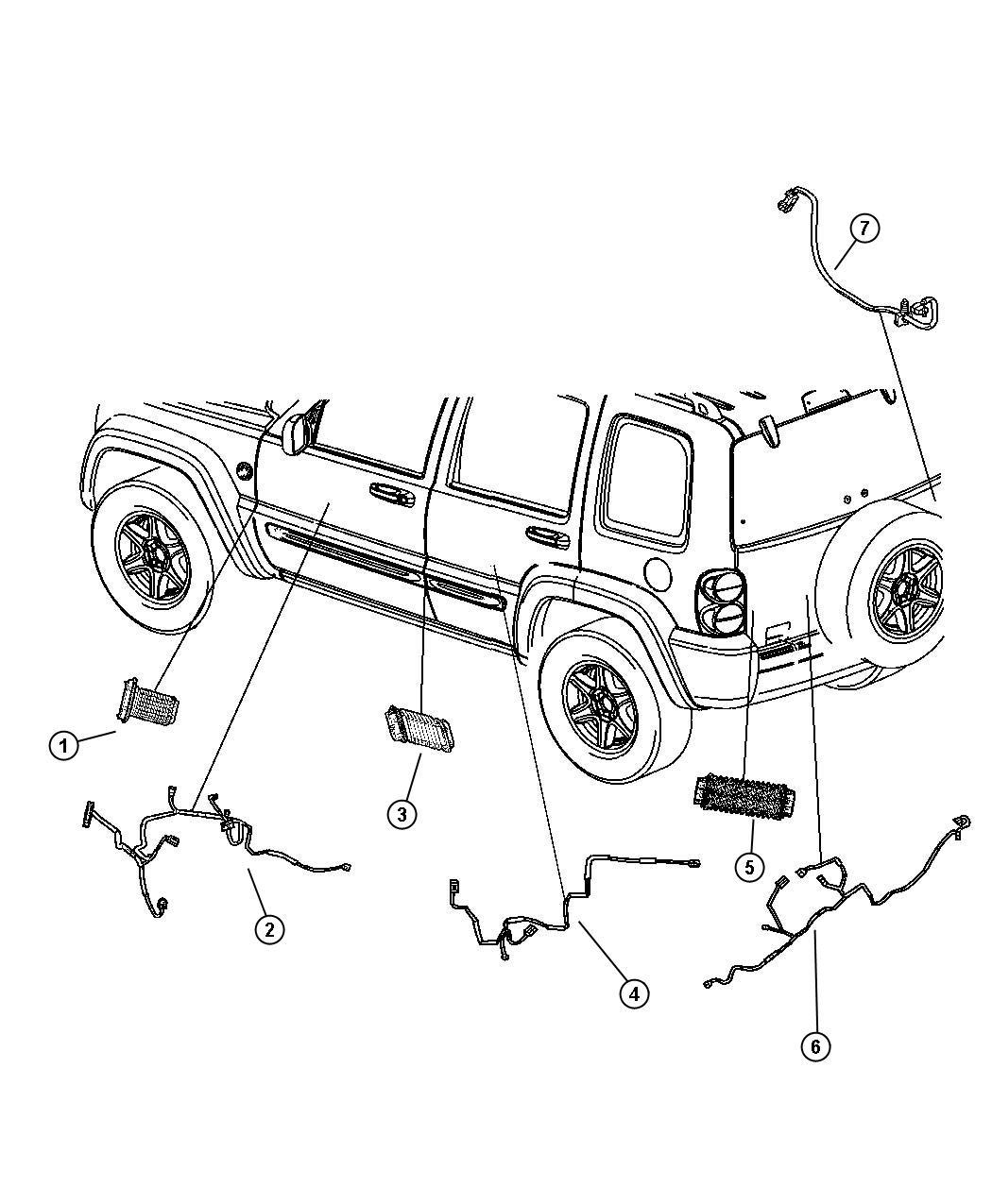 Jeep Commander Body Parts Diagram