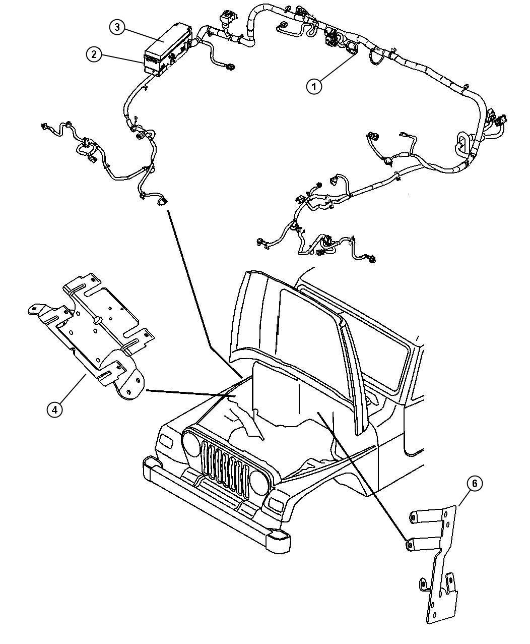 Jeep Wrangler Cover Power Distribution Center