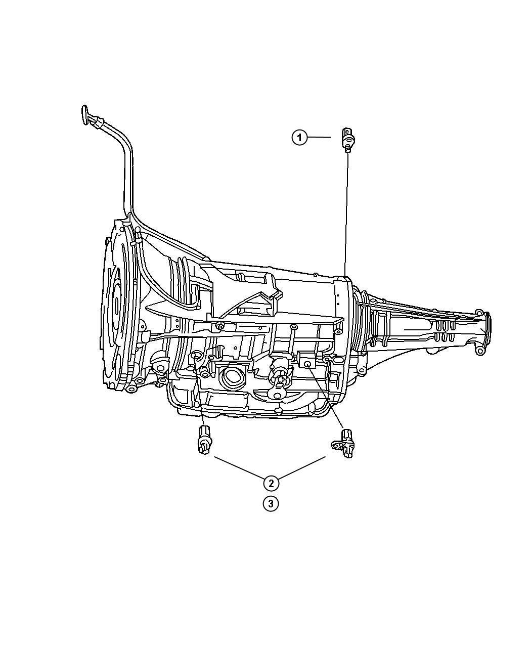 Jeep Liberty Sensor Transmission Input Speed Input