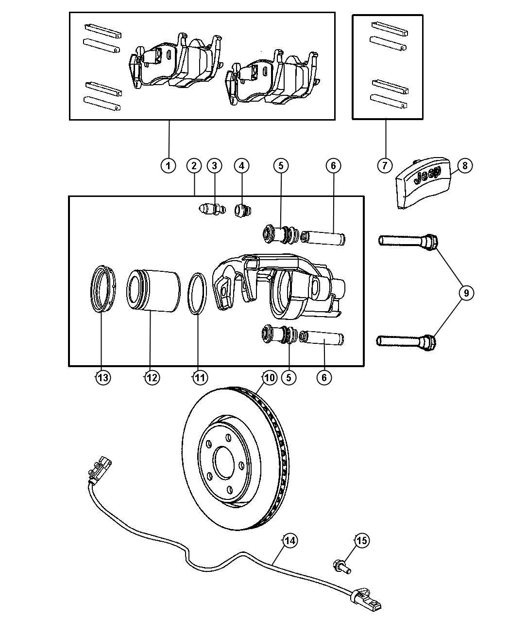 Dodge Sleeve Brake Caliper Disc Brake Caliper