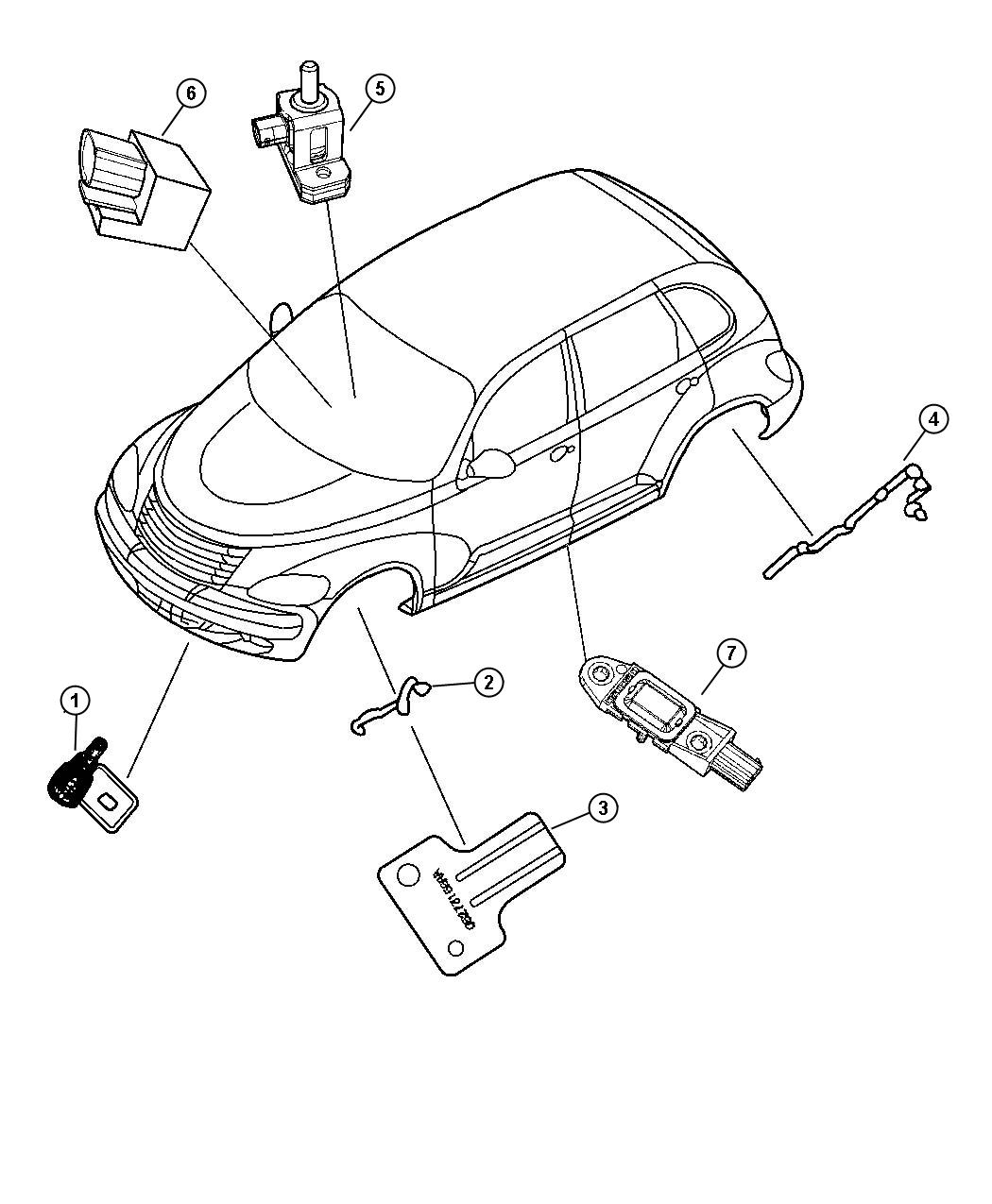 Chrysler Sebring Sensor Air Temperature Temperature
