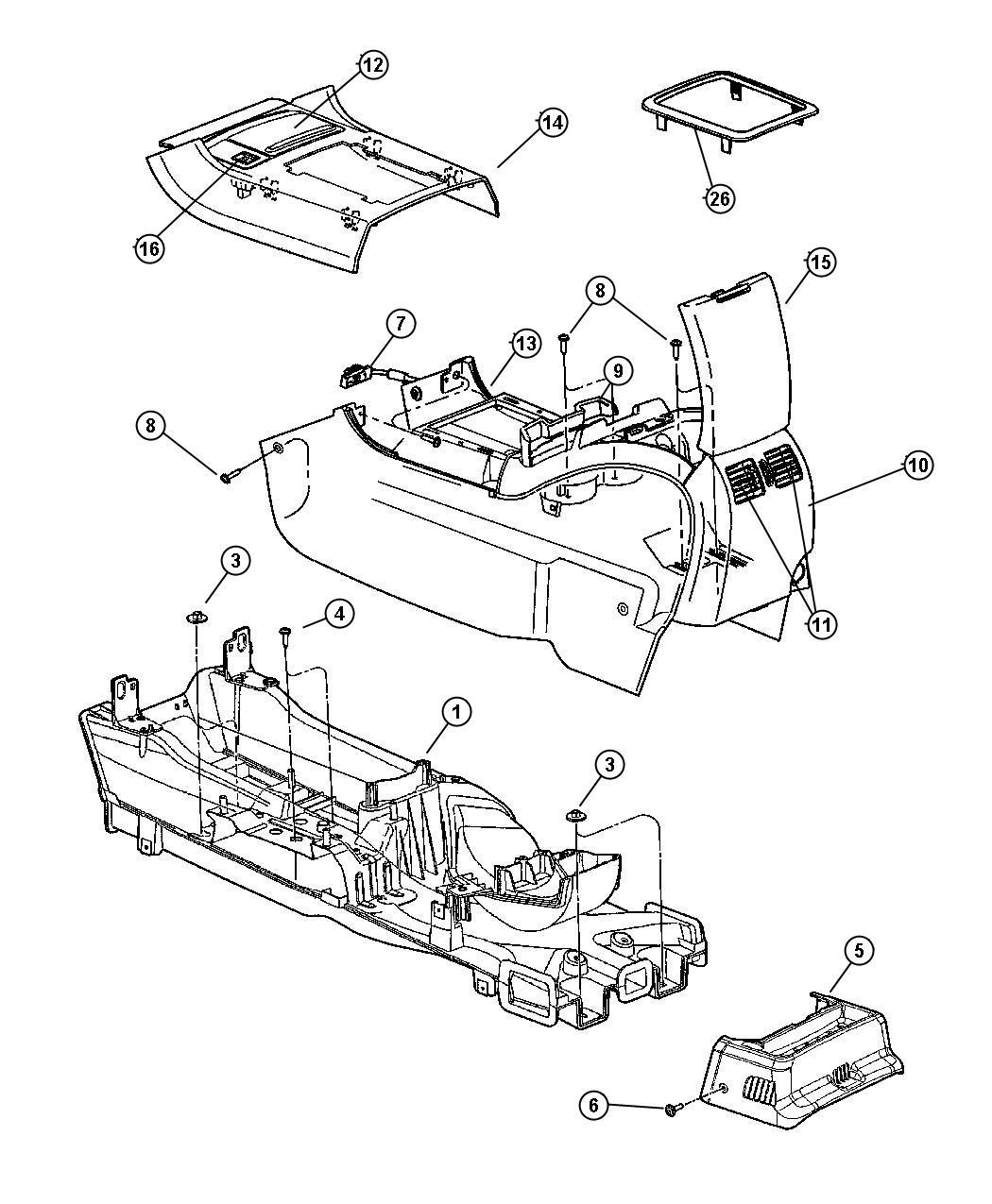 Chrysler Pacifica Bezel Gear Shift Indicator After 10 11