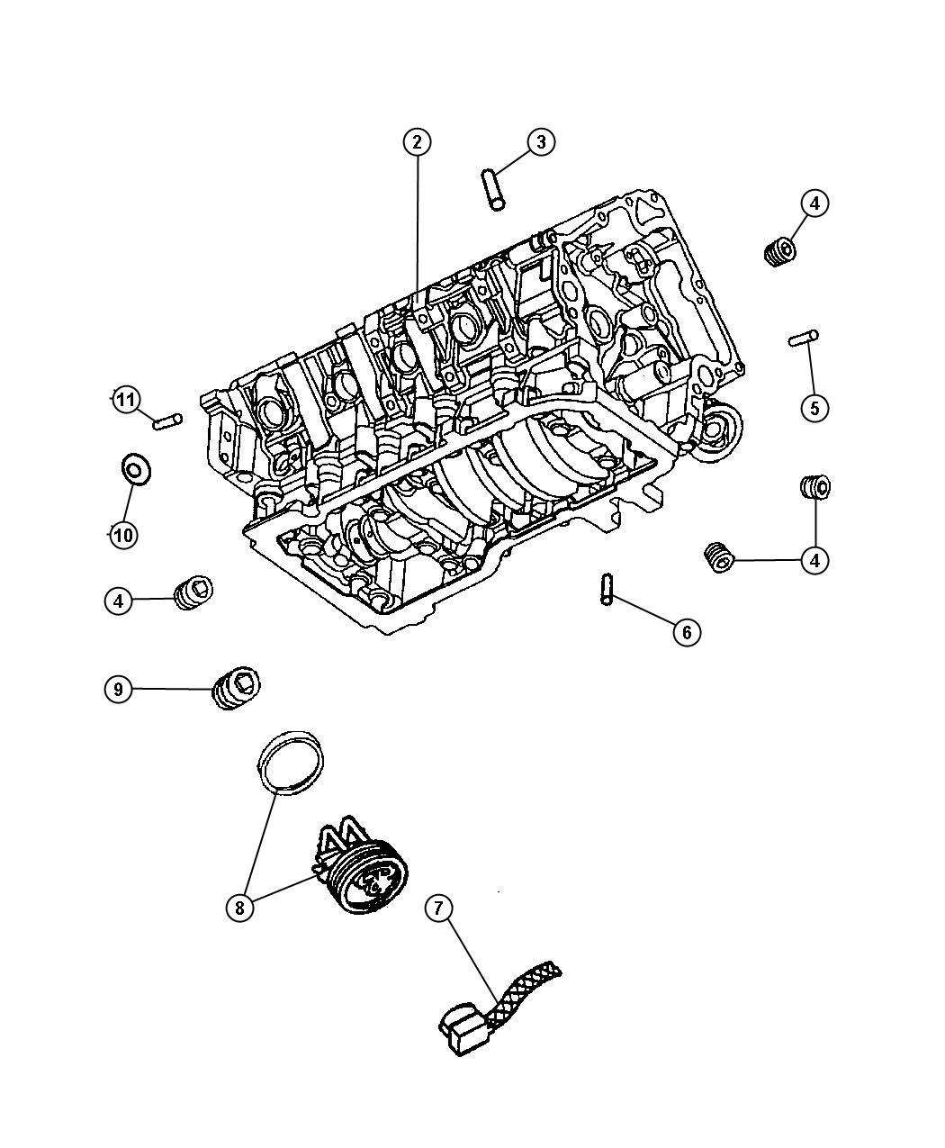 Jeep Grand Cherokee Engine Block Heater For 3 7l V6 And 4