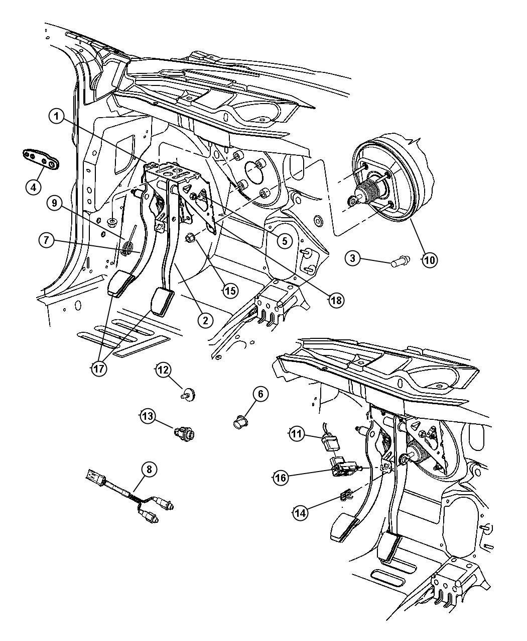 Chrysler Pt Cruiser Spring Clutch Pedal Return With