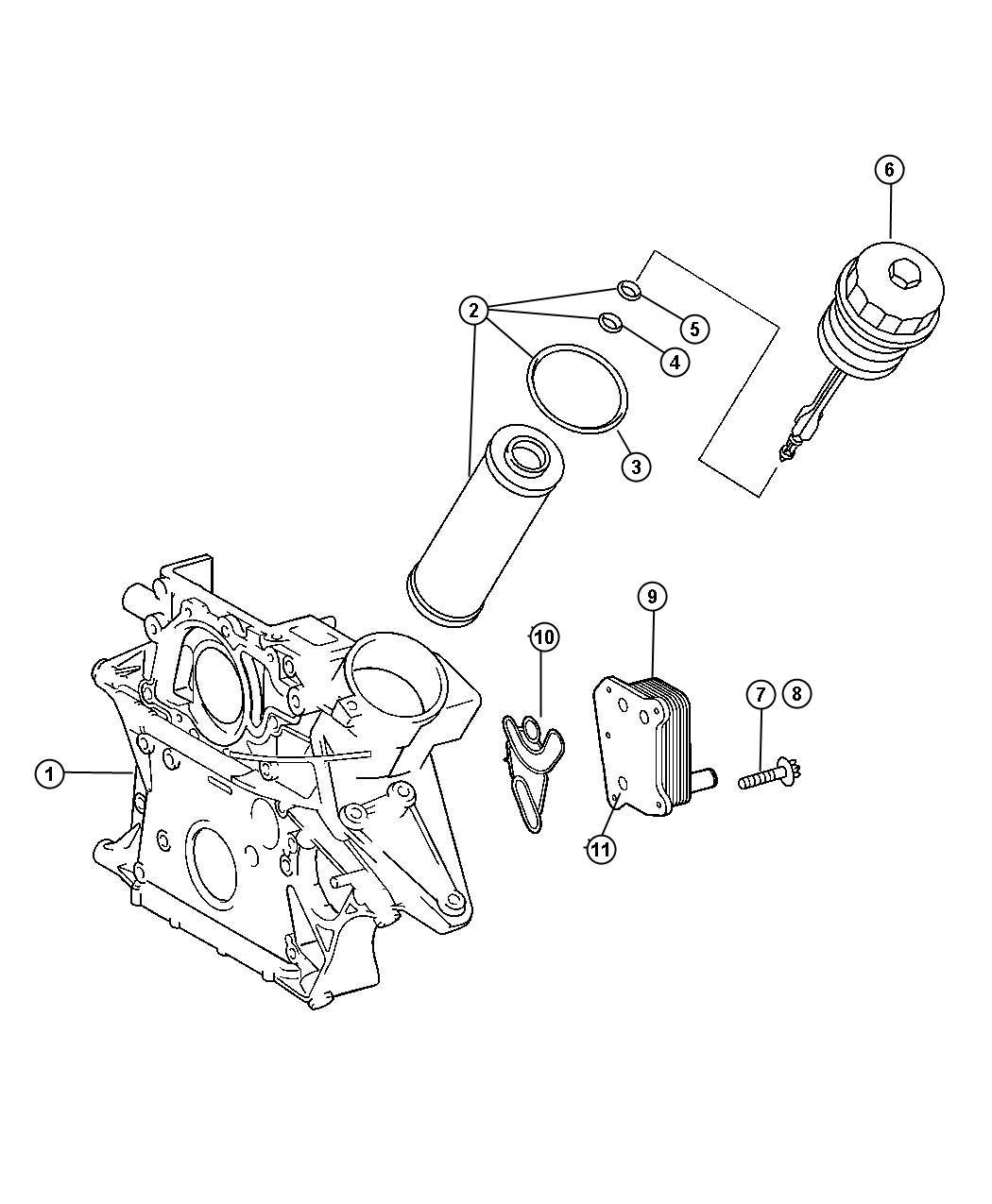 Chrysler Pt Cruiser Gasket Oil Cooler