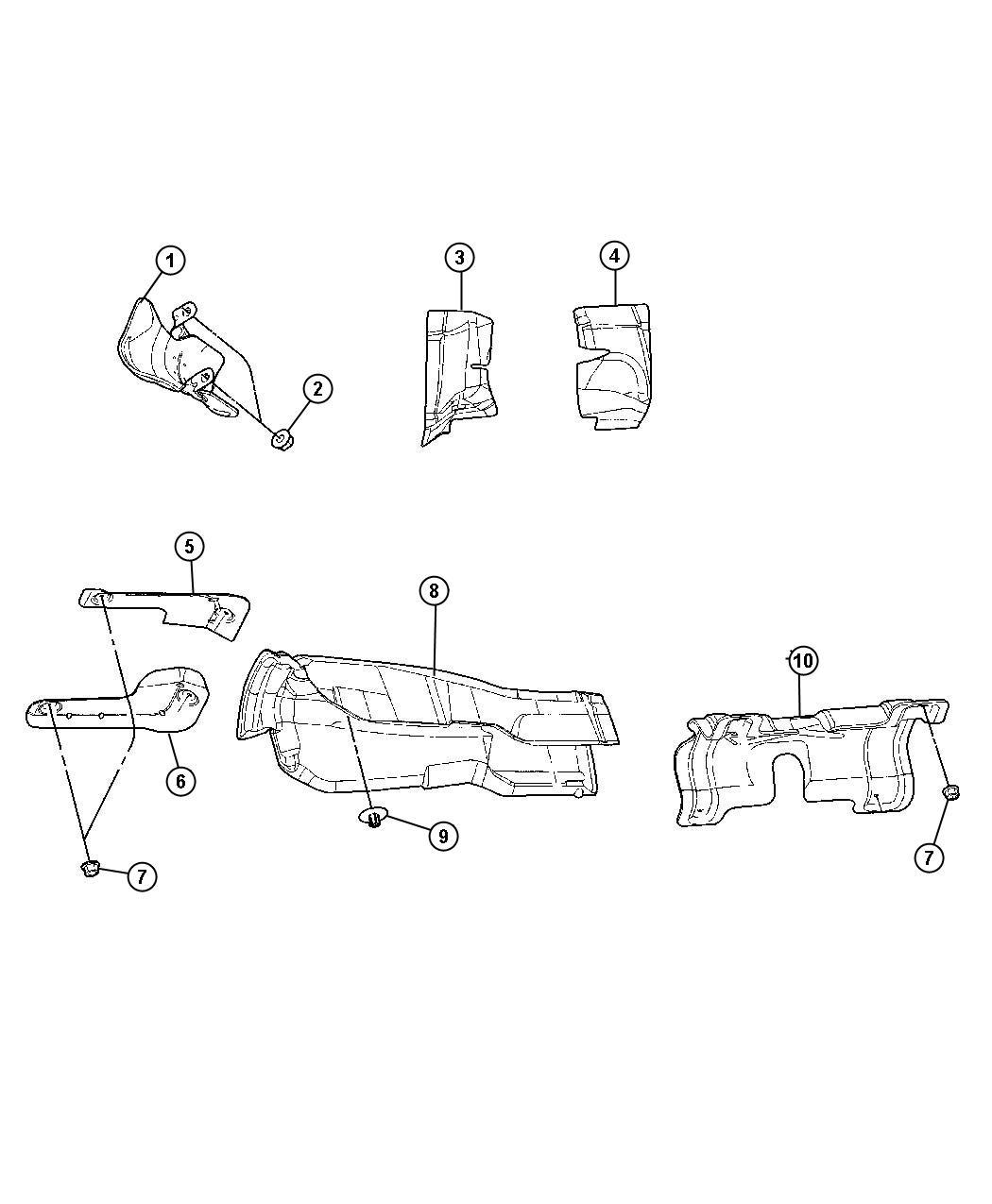 Dodge Charger Shield Exhaust Heat Catalytic Converter