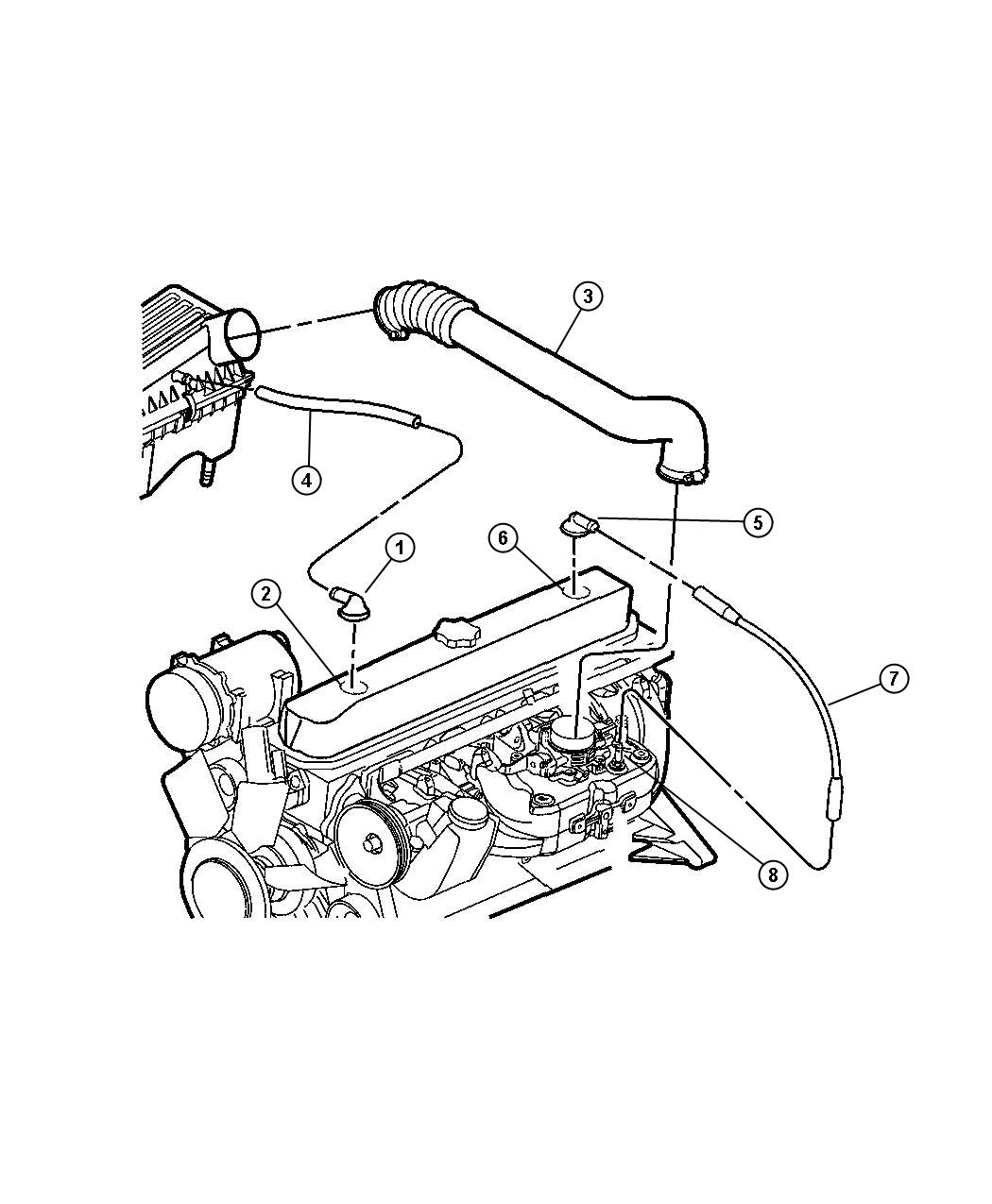 Crankcase Ventilation 4 0l 4 0l Power Tech I 6 Engine