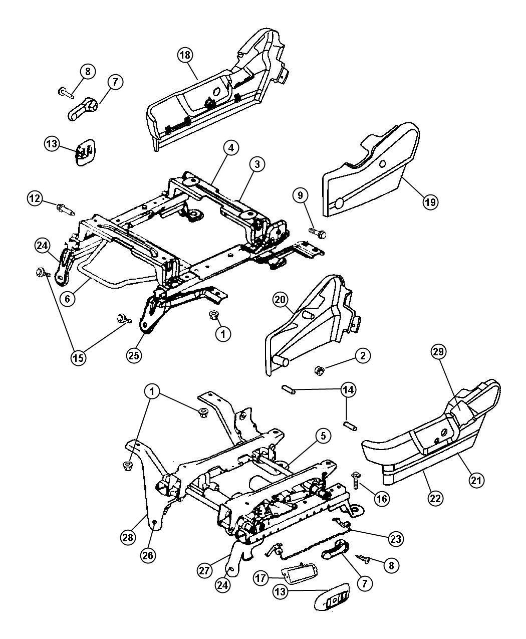 Dodge Ram Riser Seat With Xz9 Assembly Plant Part