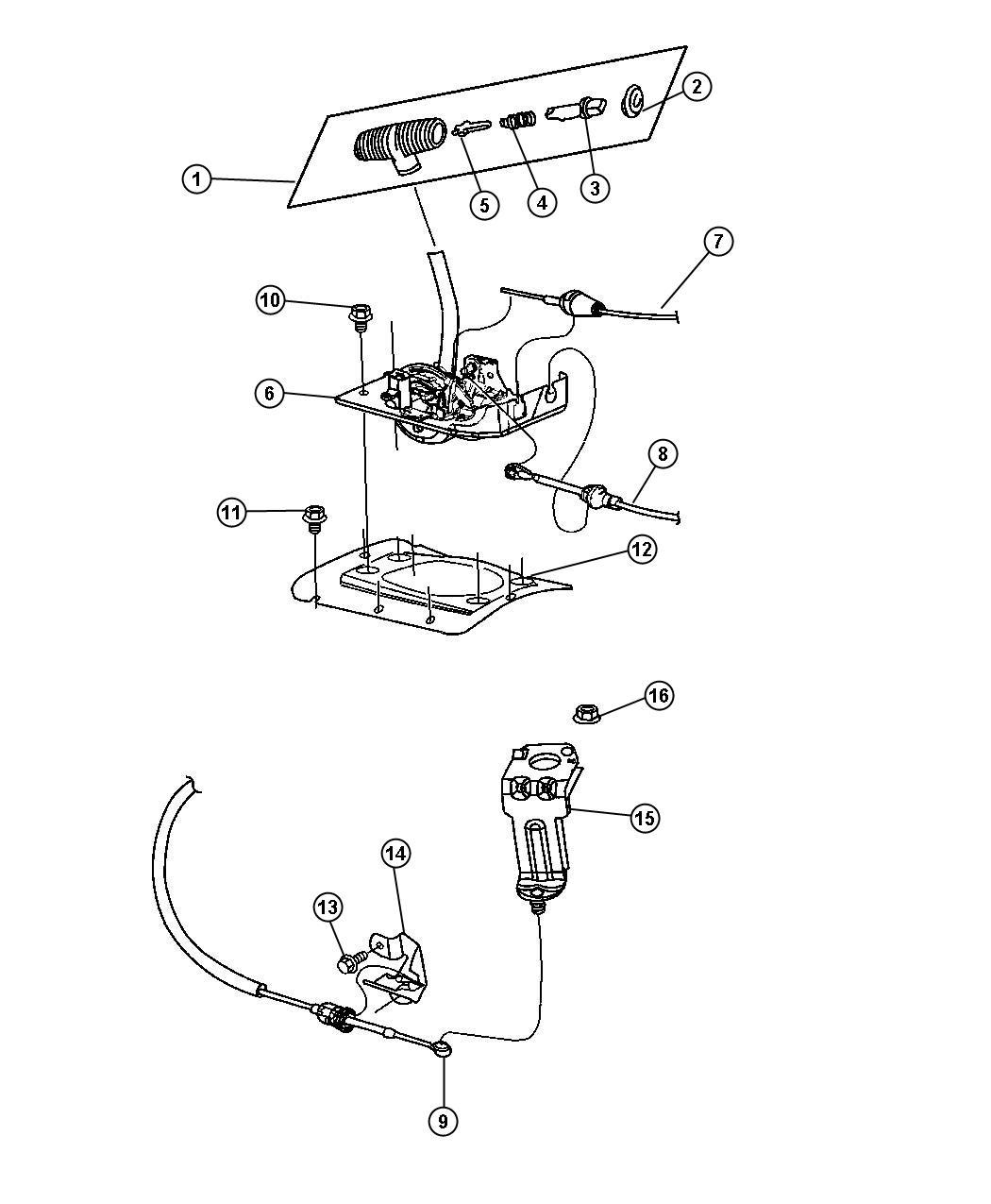 Jeep Wrangler Housing Shift Lever Controlsskid