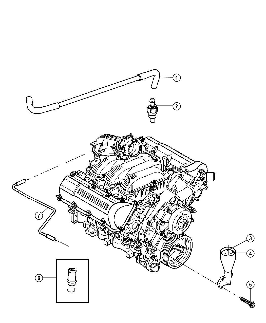 Jeep Commander Used For Pcv Valve And Housing Valve
