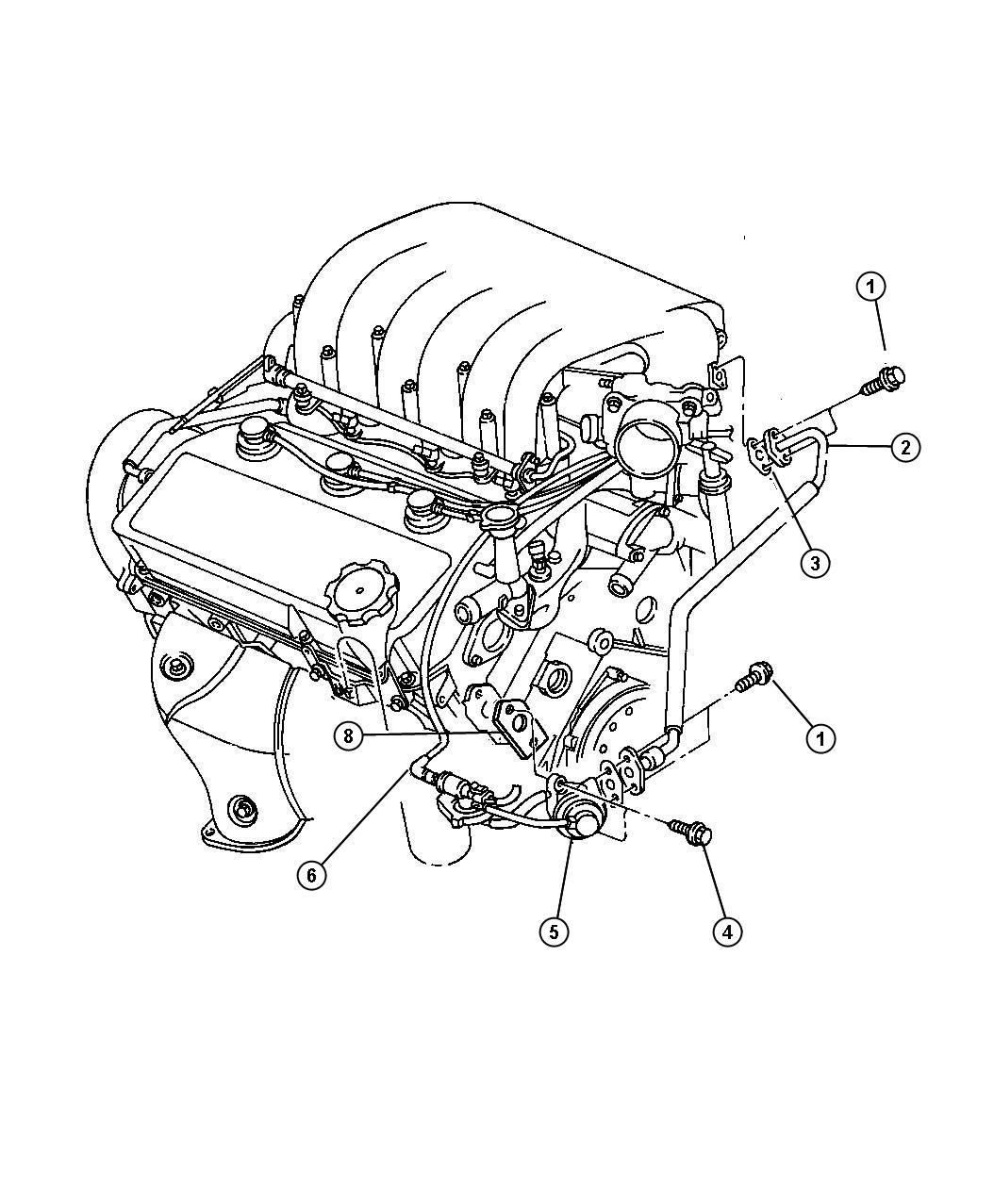 Dodge 2 5l Engine Diagram Stratus Dodge Auto Wiring