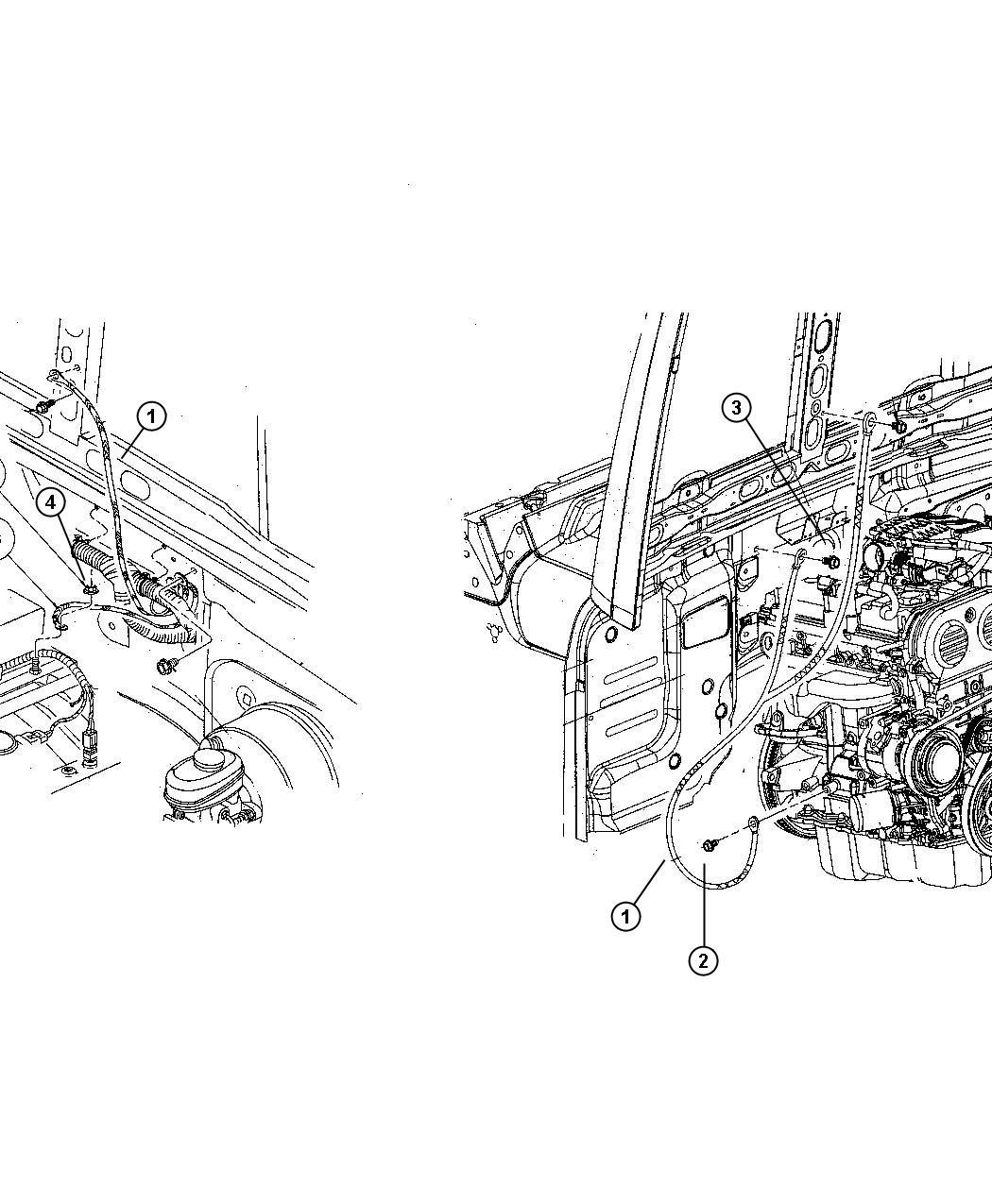Jeep Wrangler Strap Ground Engine To Body To Hood