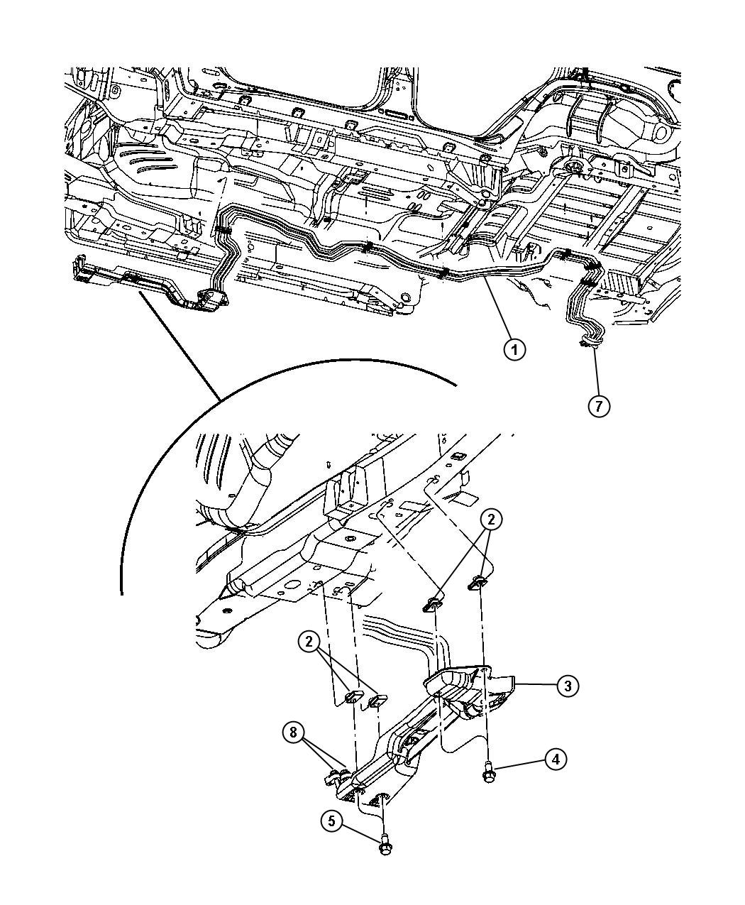 Jeep Commander Underbody A C Amp Heater Lines