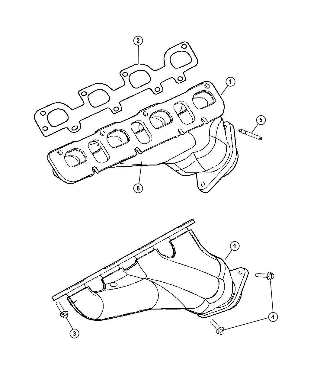 Exhaust Manifolds 5 7l 5 7l V8 Hemi Mds Engine