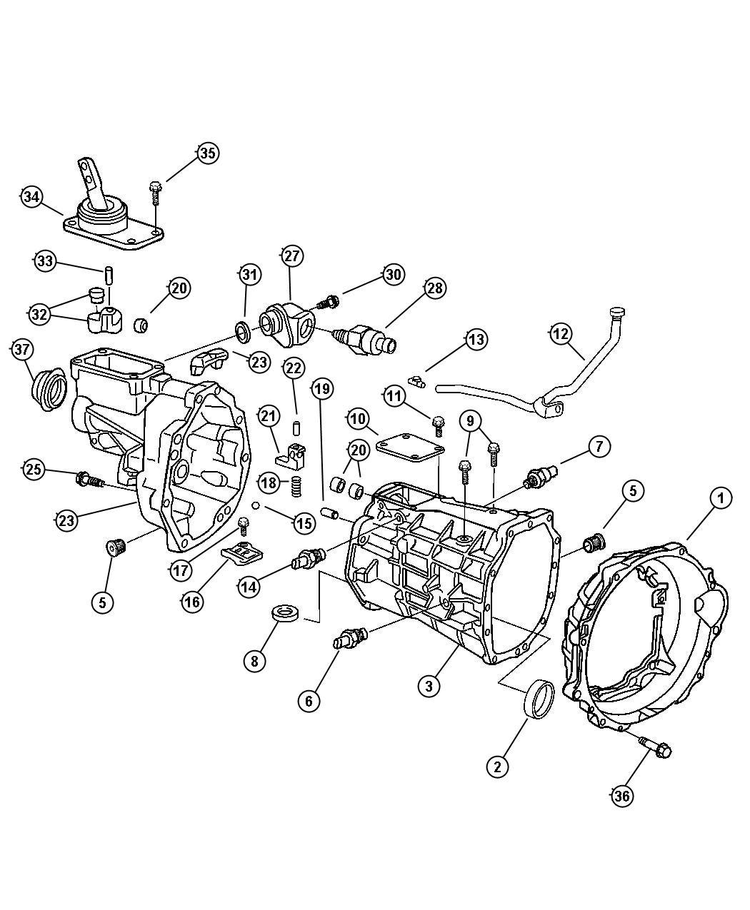 Dodge Ram Plug Oil Fill Transmission Drain Drain