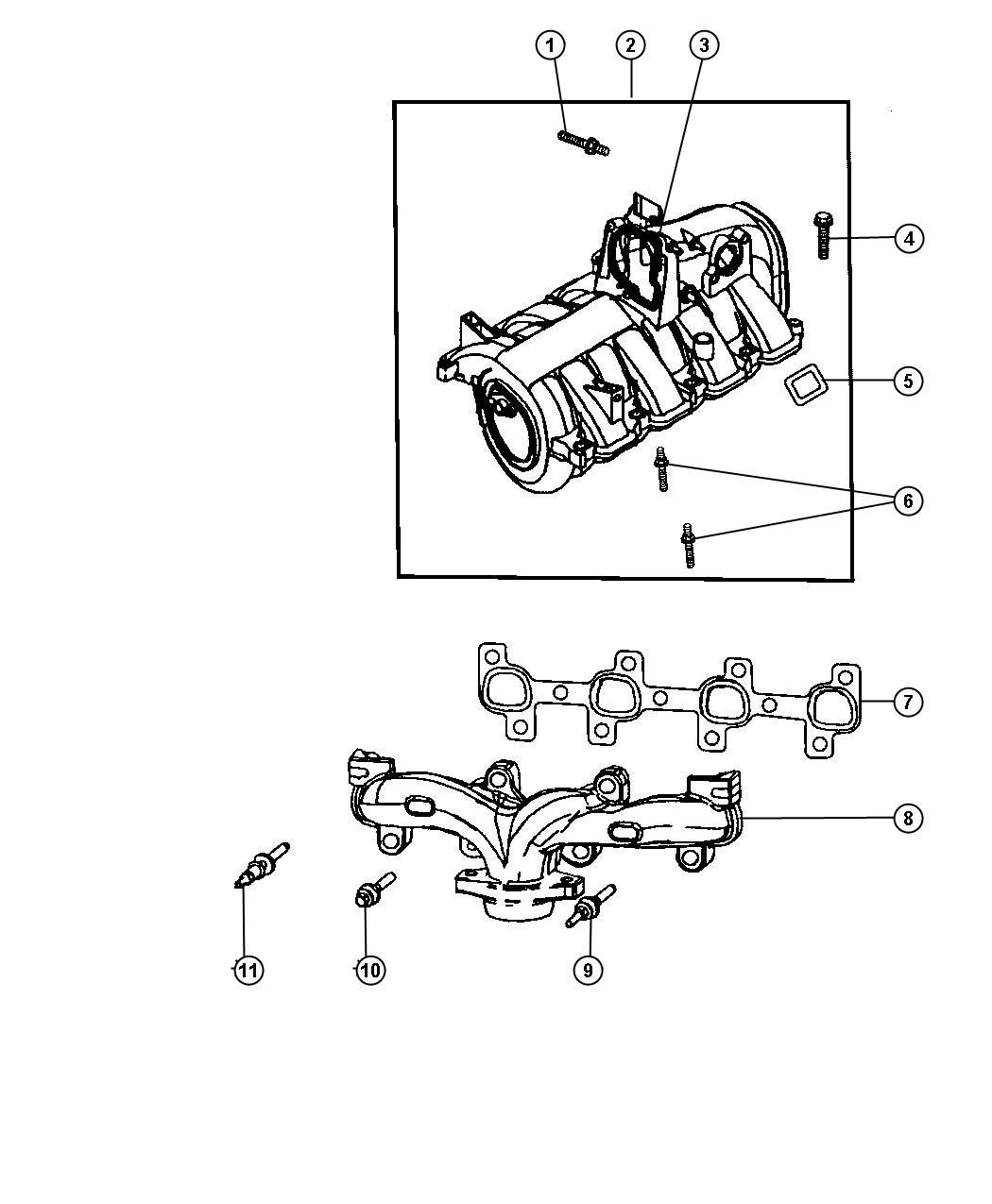 Dodge Dakota Cap Intake Manifold Vacuum Port Evc Evd