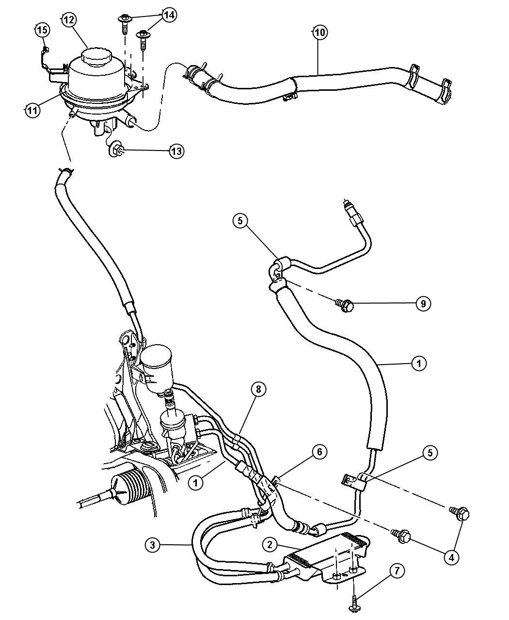 Chrysler Town Amp Country Hoses Power Steering 3 3l 3