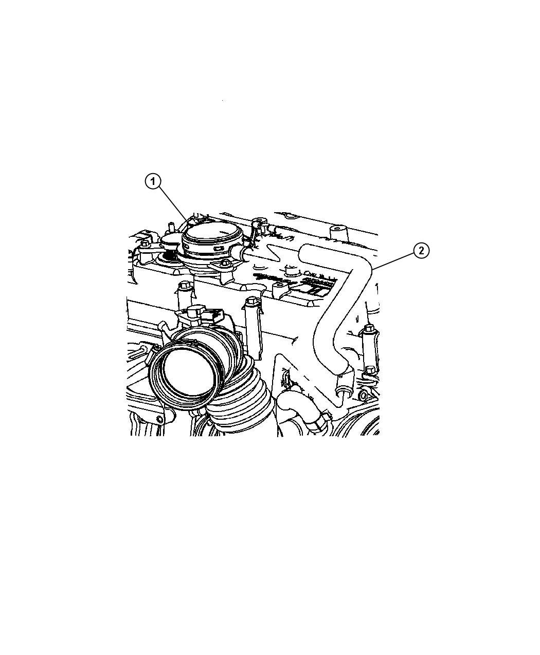 Crankcase Ventilation 2 8lsel 2 8l 4 Cyl Turbosel Engine