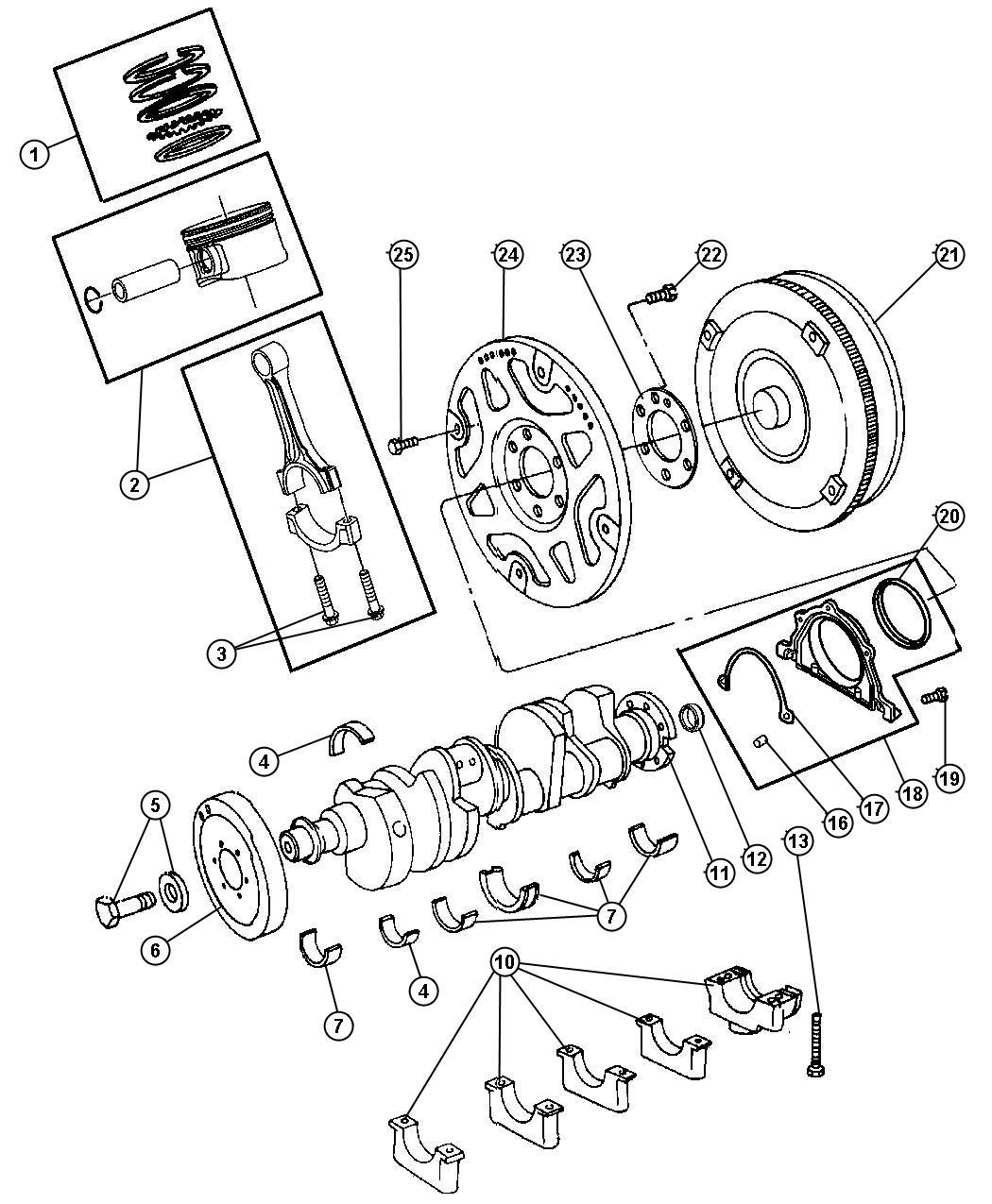 Chrysler 300 Damper Crankshaft