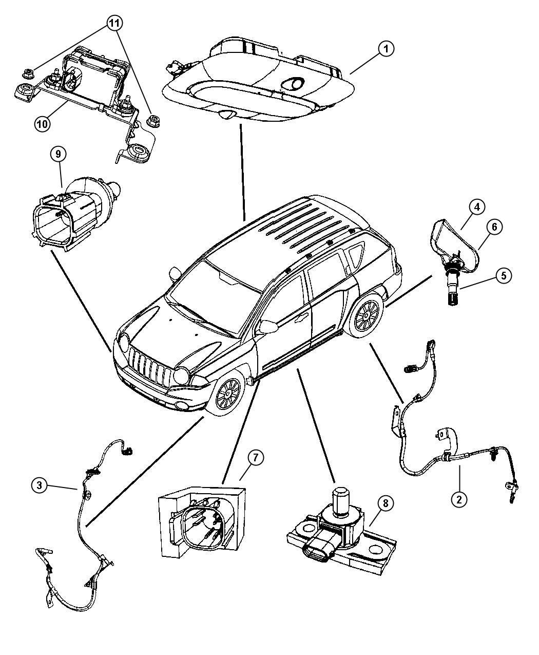 Jeep Patriot Sensor Dynamics Lateral Acceleration And