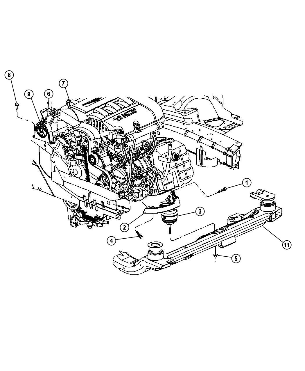 Chrysler Pacifica Engine Mount Location
