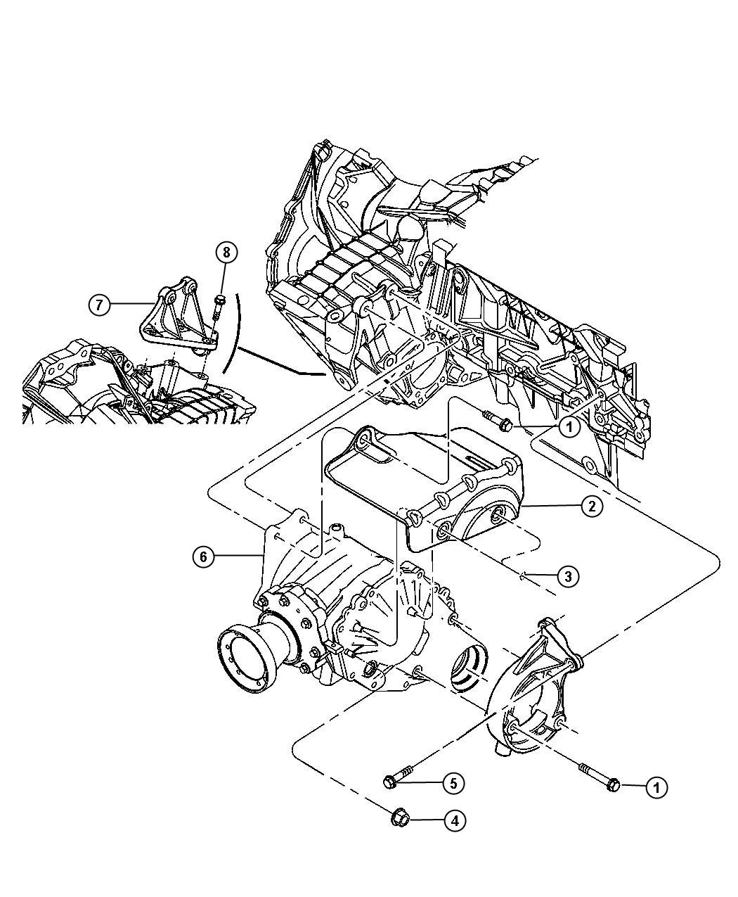 Chrysler Pacifica Power Transfer Unit Mounting Awd