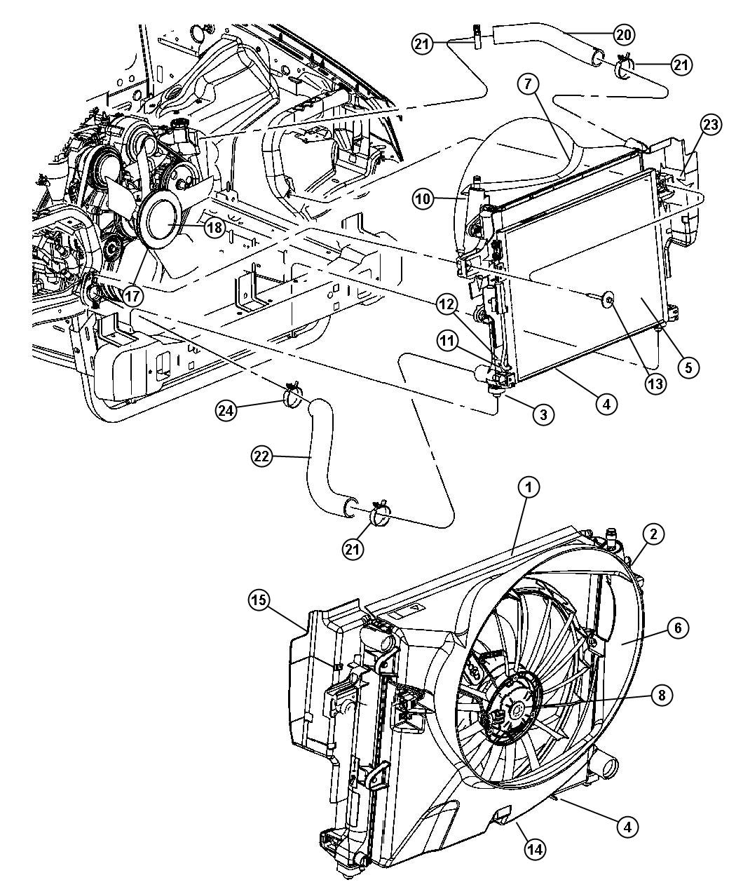Dodge Durango Harness Resistor Wiring Jumper Radiator