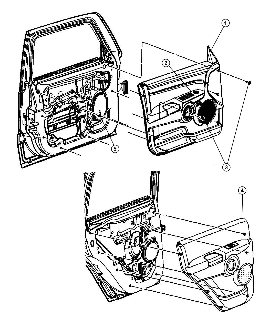 Jeep Commander Panel Rear Door Trim Right Trim All