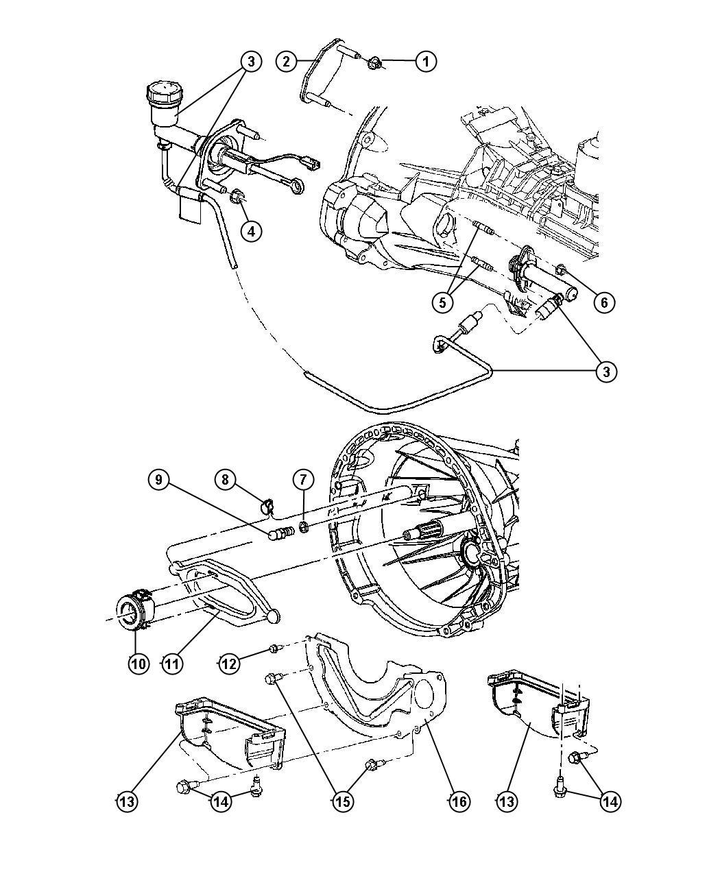 Dodge Ram Controls Hydraulic Clutch