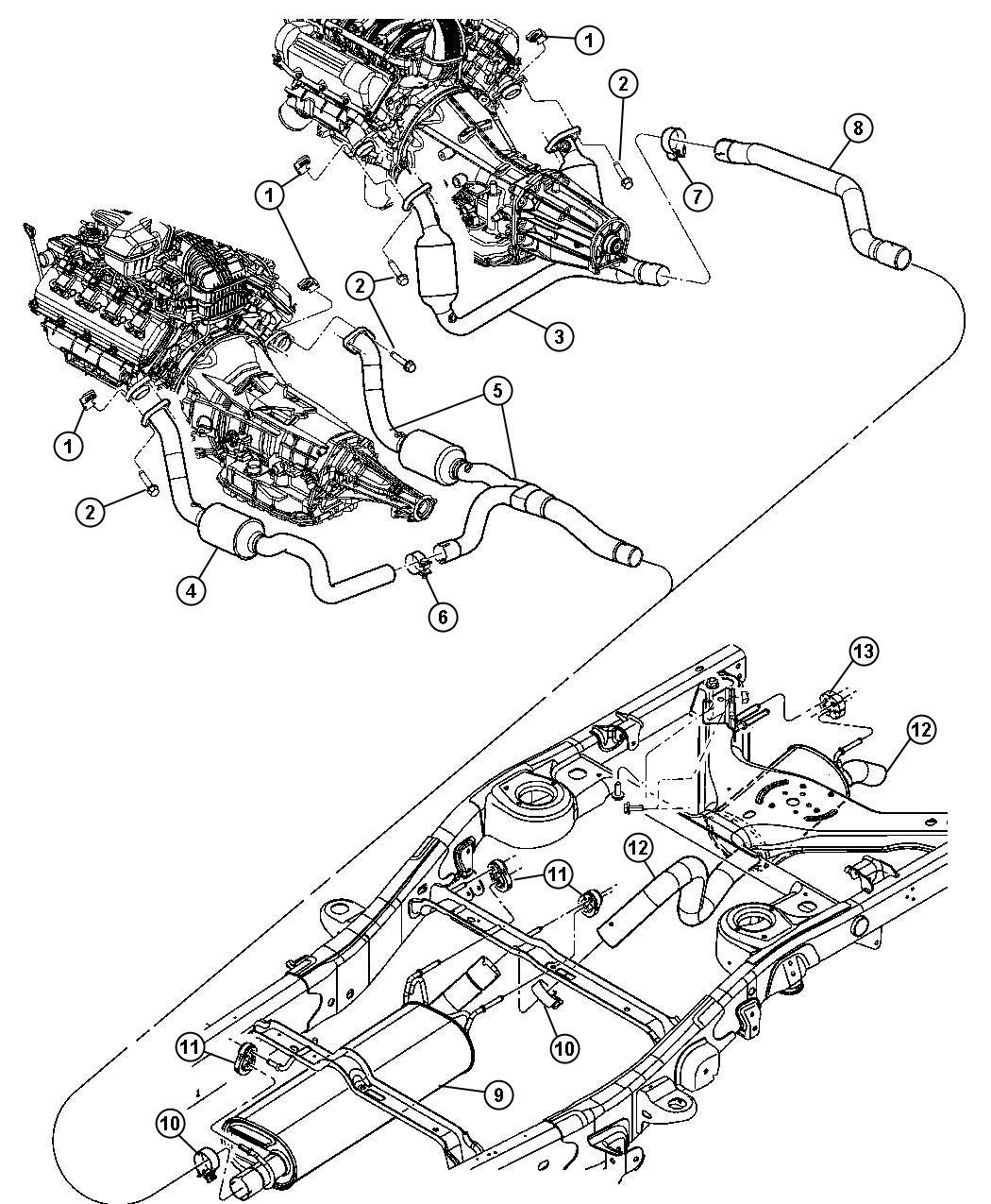 Chrysler Aspen Gasket Exhaust Pipe Evaevd