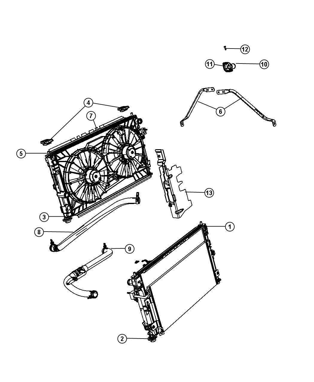 Dodge Caliber Connector Housing Engine Coolant Outlet