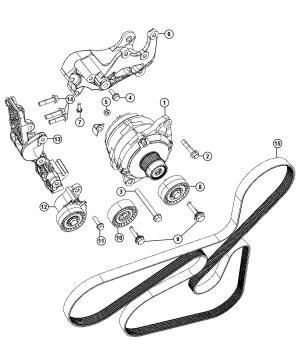 04891721AB  MOPAR Belt Accessory drive, serpentine Vbelts | Factory Chrysler Parts, Bartow Fl