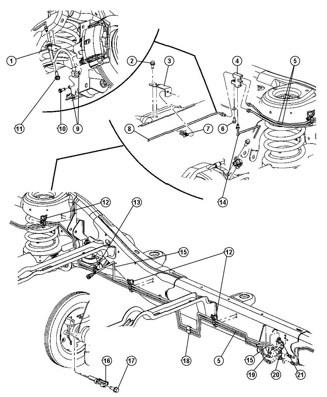 Chrysler Sensor Wheel Speed Drivetrain