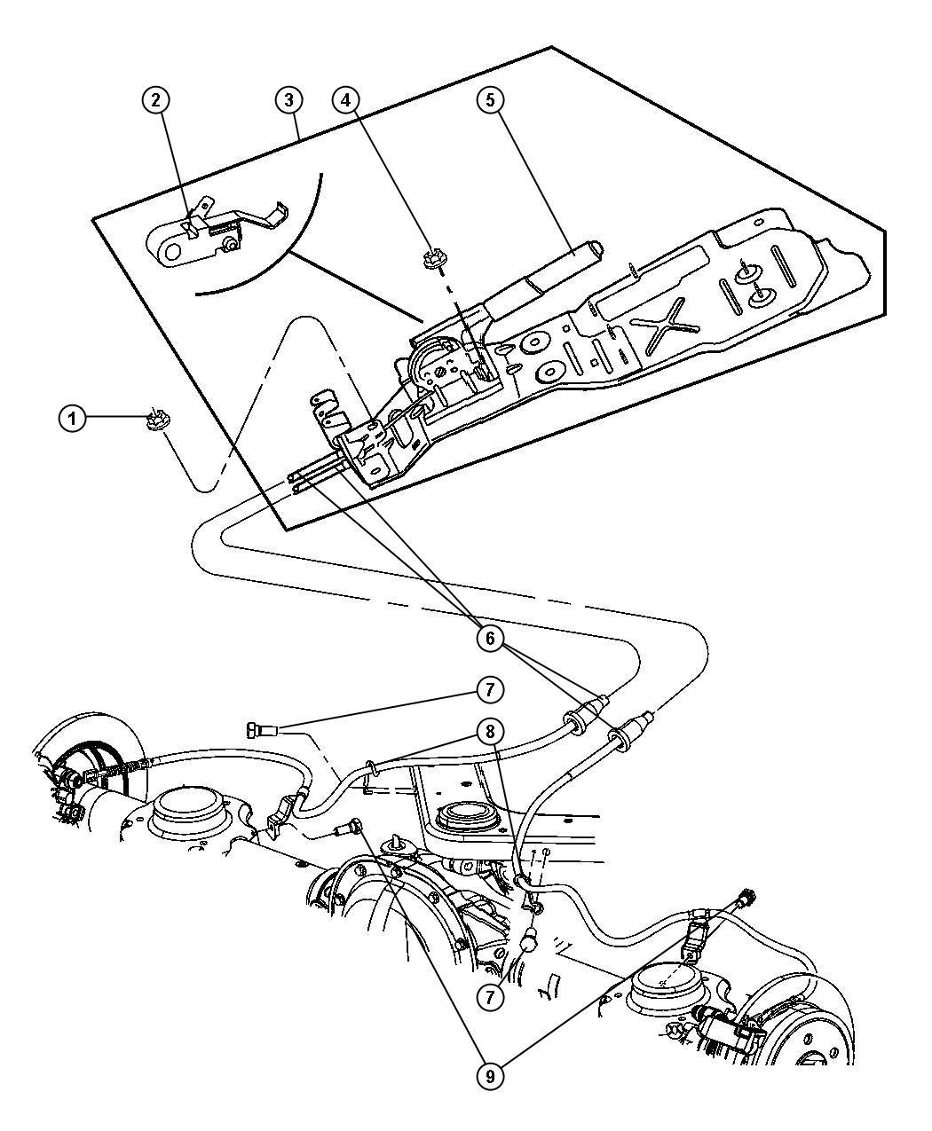 Service Manual Jeep Liberty Parking Brake Repair