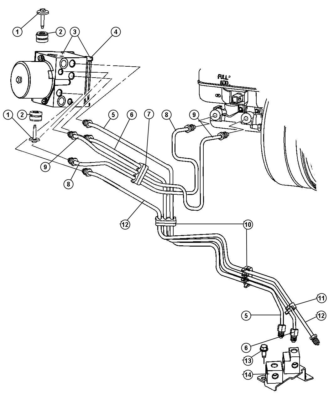 Dodge Dakota Control Unit Anti Lock Brake