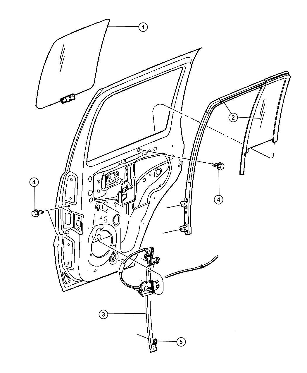 Jeep Grand Cherokee Window Regulator Diagram