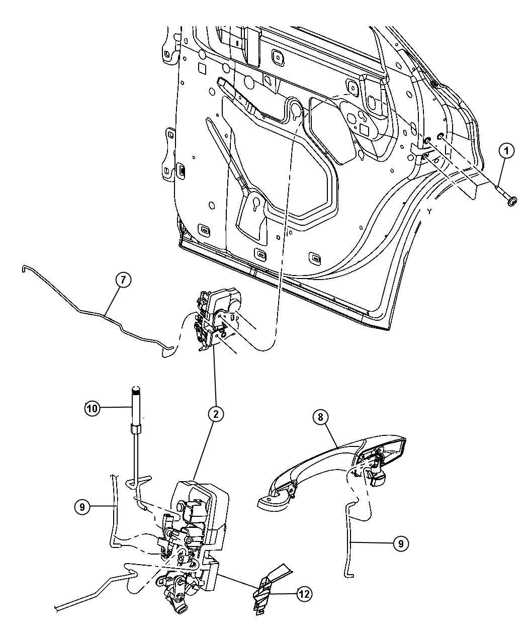 Dodge Magnum Link Inside Handle To Latch Rear Door
