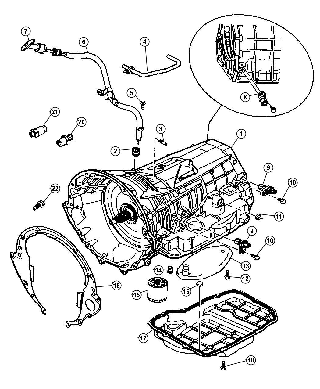 Dodge Grand Caravan Indicator Transmission Fluid
