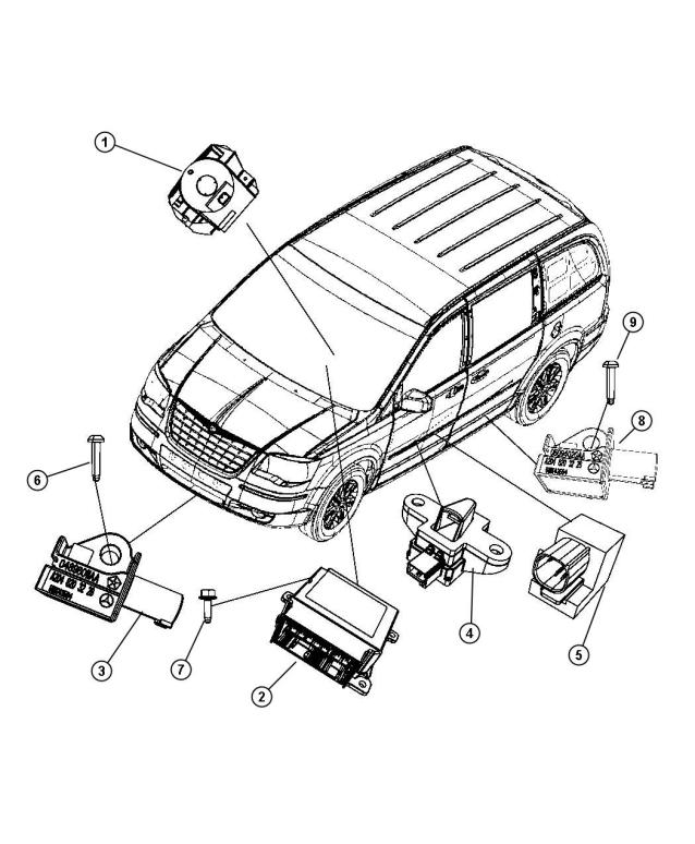 2011 Chrysler Town And Country Abs Module
