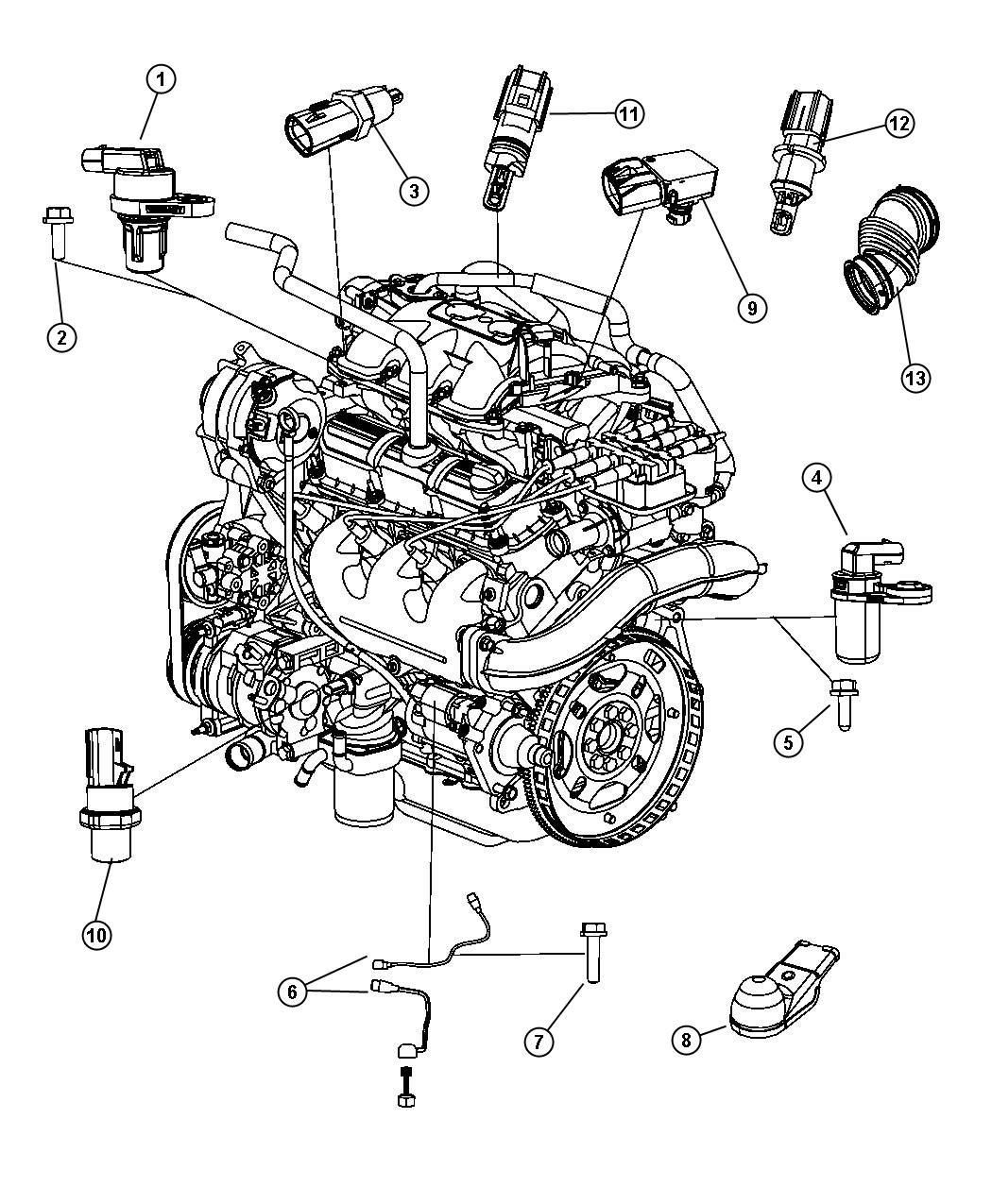 Chrysler Town Amp Country Sensors Gas Engine