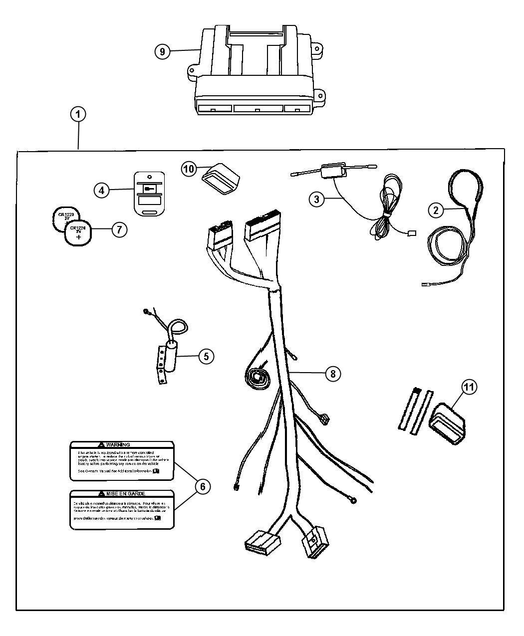 Dodge Grand Caravan Remote Start Installation Kit