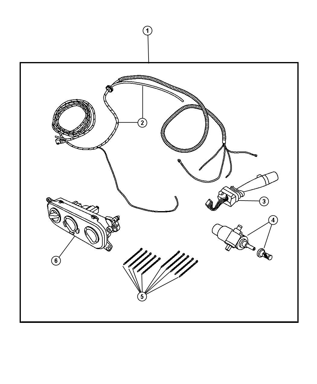 Jeep Wrangler Switch And Wiring Package Includes Wiring