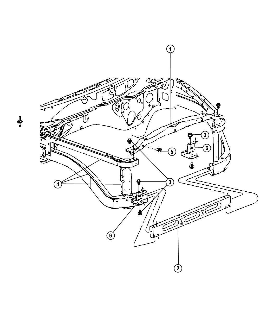 Dodge Ram Bracket Radiator Left At Lower Isolator