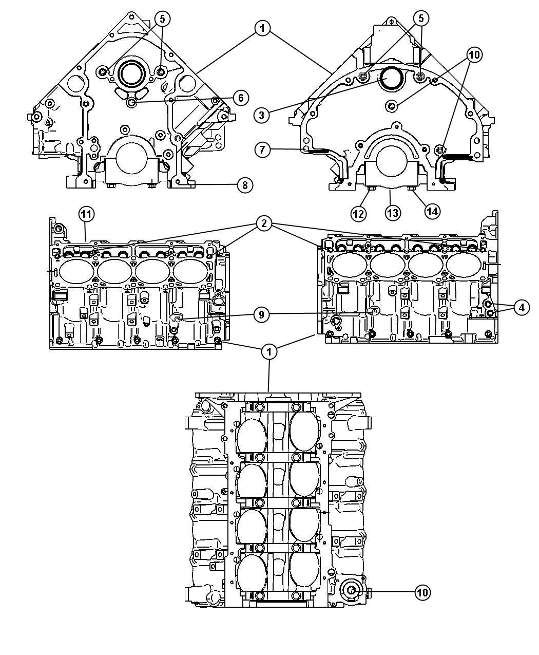 Dodge Ram Block Engine Short Short Block