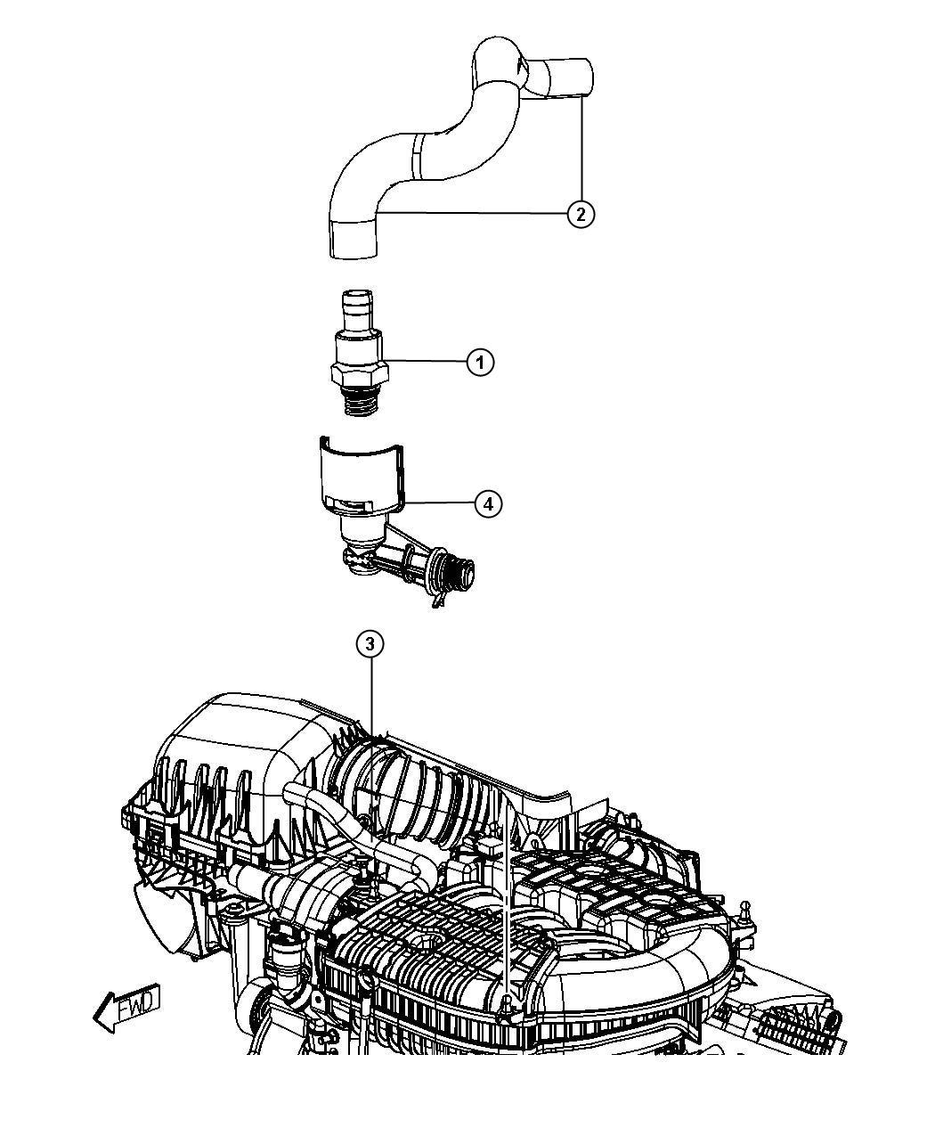 Chrysler Pacifica Crankcase Ventilation 4 0l 4 0l V6