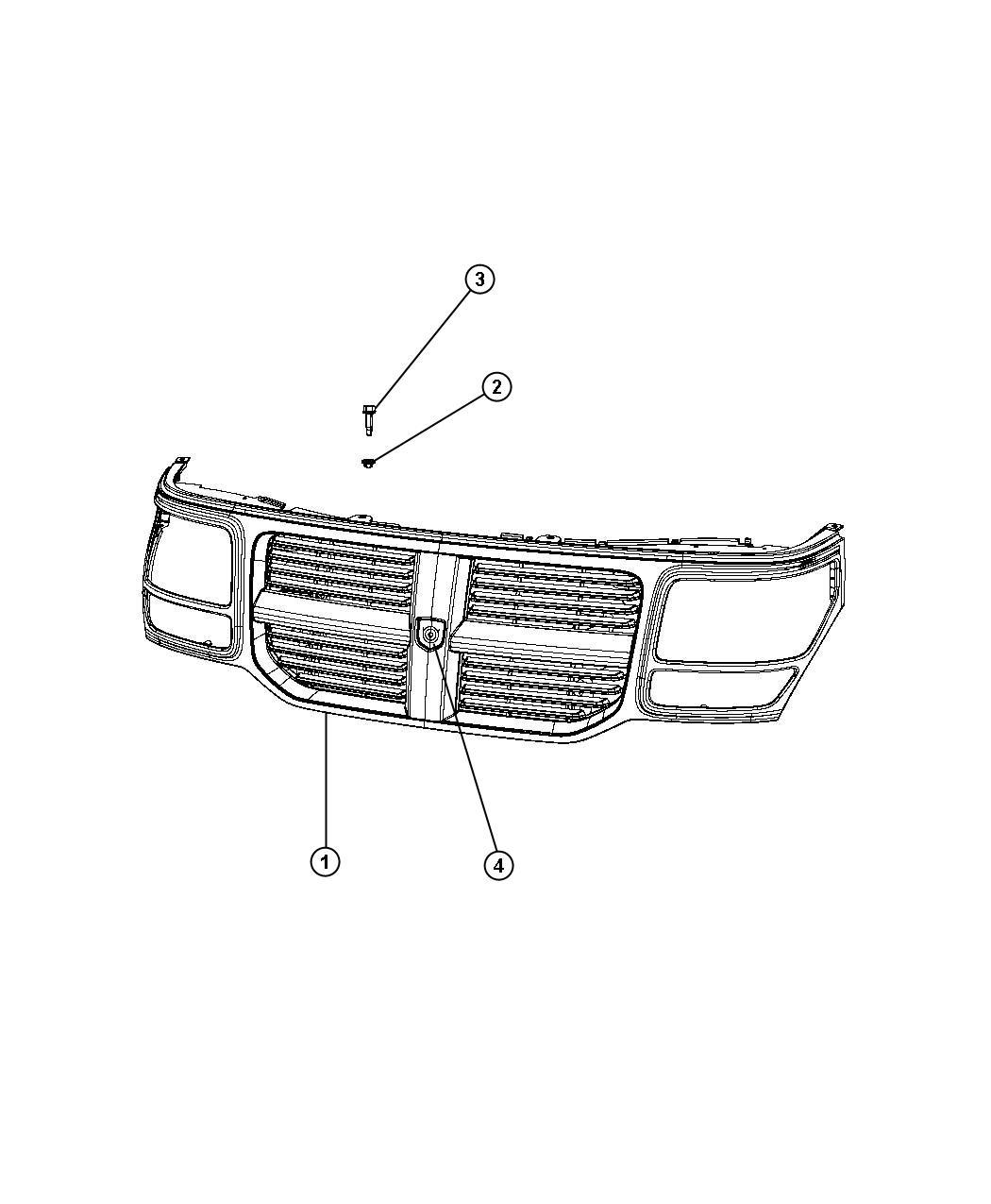 Dodge Nitro Grille Radiator Rh Rh With Chrome Rh