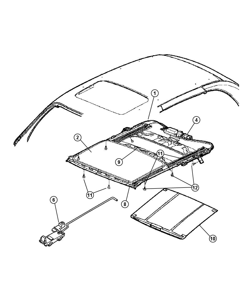 Sunroof Glass And Component Parts Images