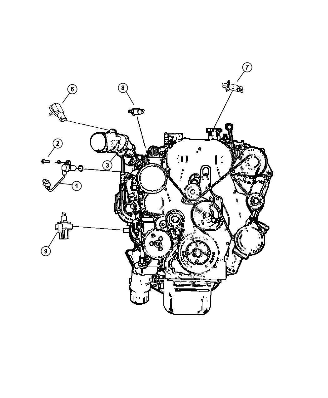 Dodge Caliber Sending Unit Switch Oil Pressure
