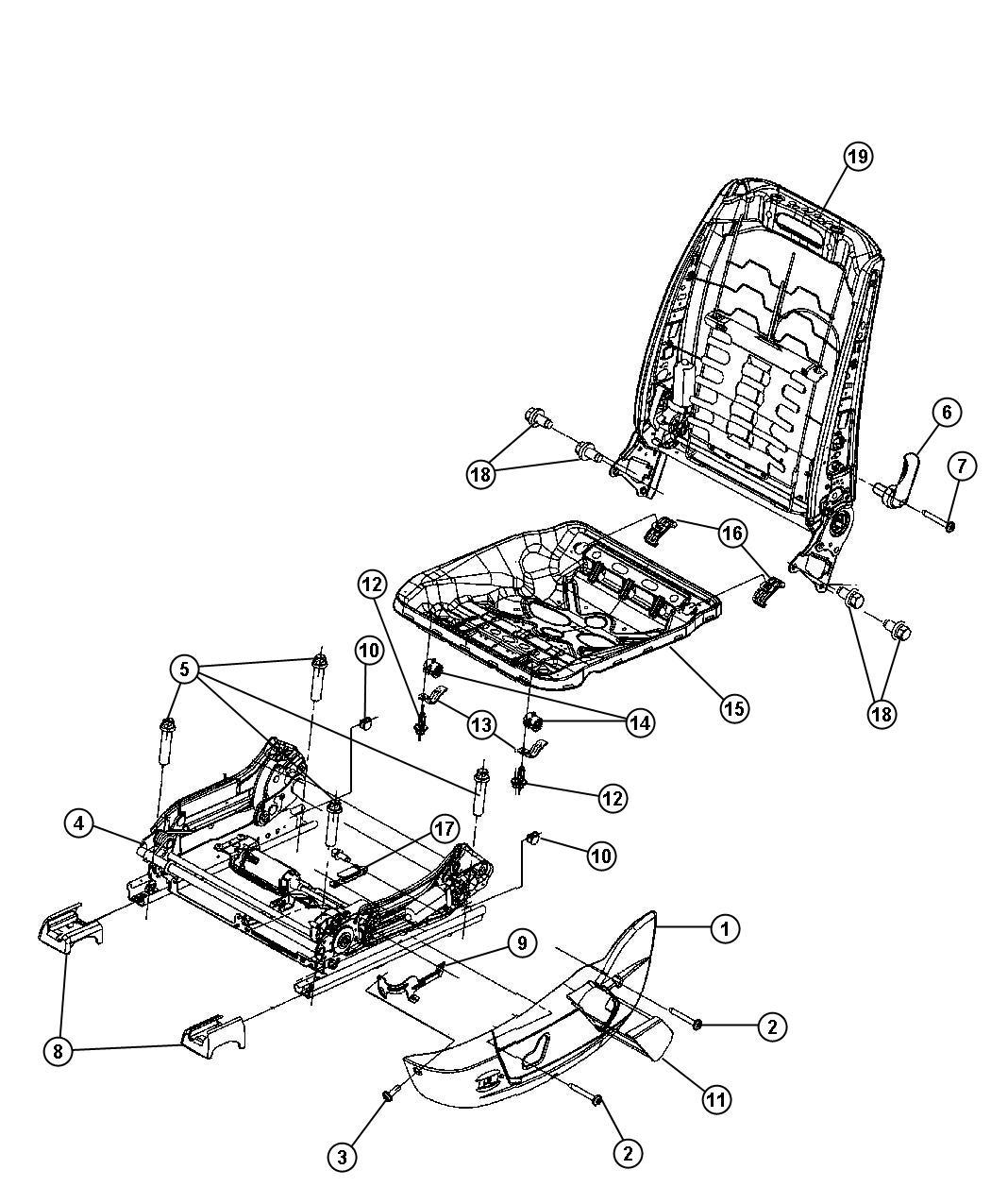 Nitro Front Seat Repair